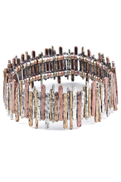Mix Metal Stretch Bracelets