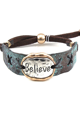 Suede Leather Adjustable Bracelet