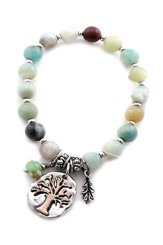 Stone Bead Stretchable Bracelet