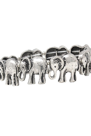 Mix Metal Jumbo Elephant Bracelet