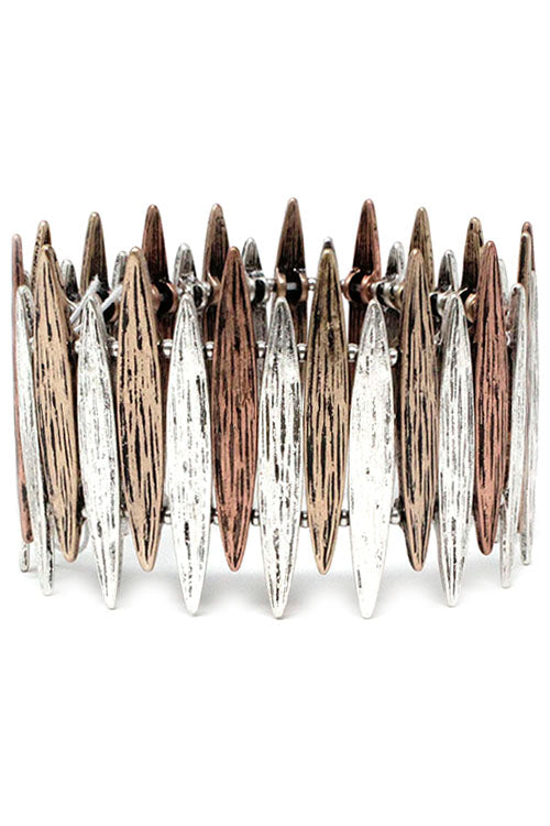 Mix Metal Stretch Bracelet