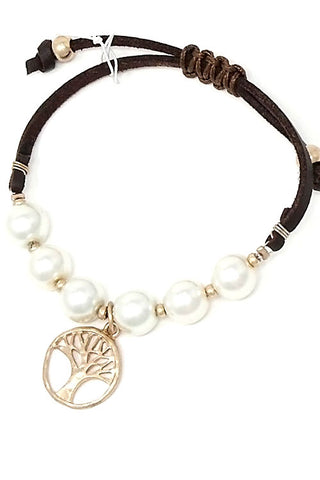 Tree Of Life Pendant Adjustable Bracelet