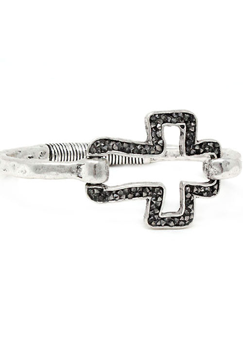 Copy of Cross Pendant Metal Adjustable Bracelet