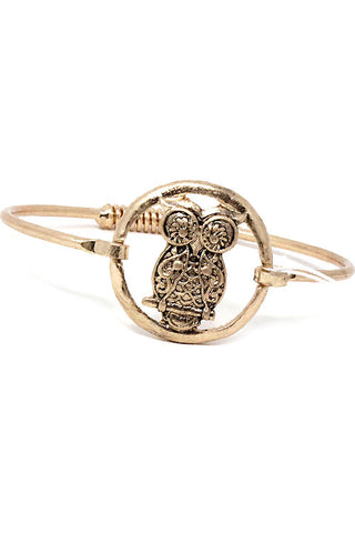 Owl Mix Metal Adjustable Bracelet