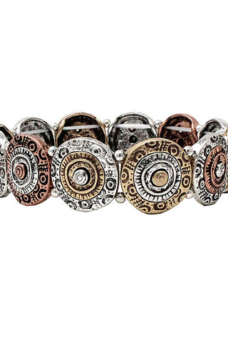 Mix Metal Coin Bracelet