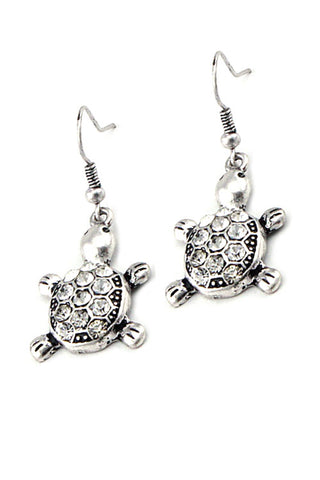 Metal Turtle Hook Earrings
