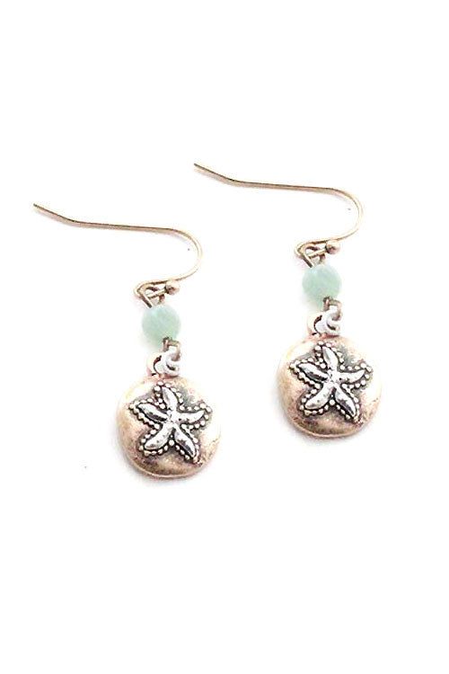 Starfish Coin Hook Earring