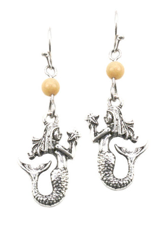Metal Mermaid Hook Style Earrings