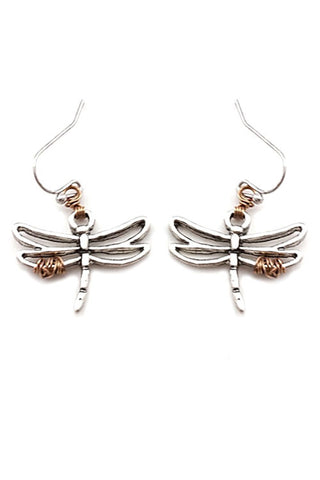 Metal Dragonfly Earrings