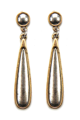 Teardrop Metal Earrings