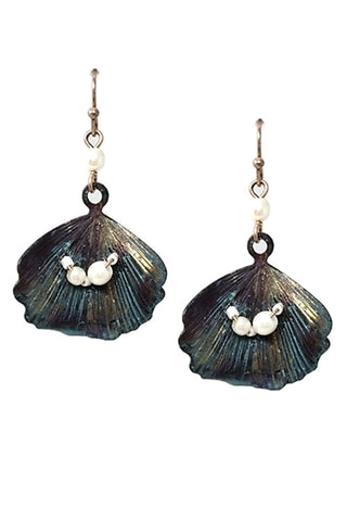 Sea Life Shell Hook Earrings
