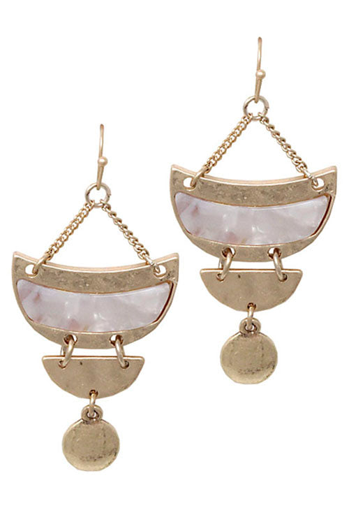 Metal Drop Hook Earrings