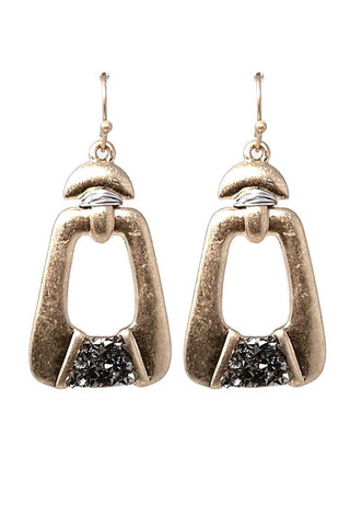 (3PCS) Metal Stone Hook Earrings