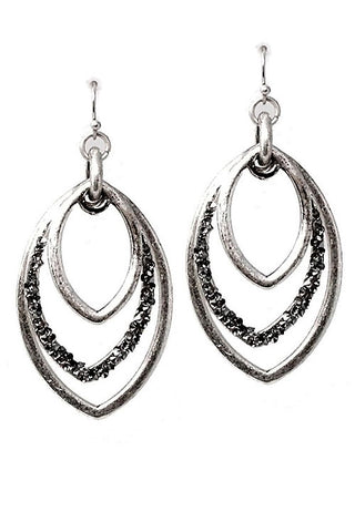Mix Metal Hook Earrings