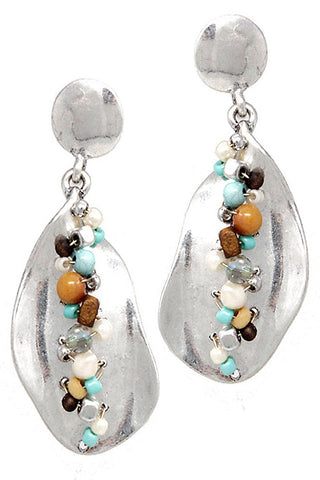 Metal Drop Beads Earrings