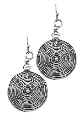 Twirl Metal Hook Earrings