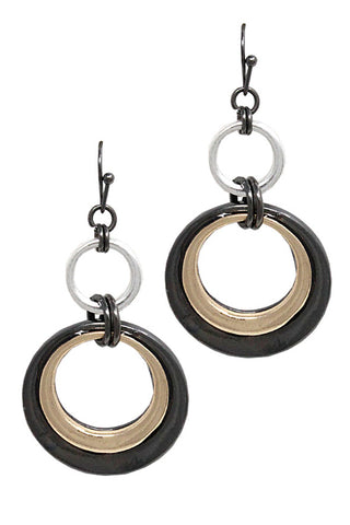 Metal Drop Hook Earring