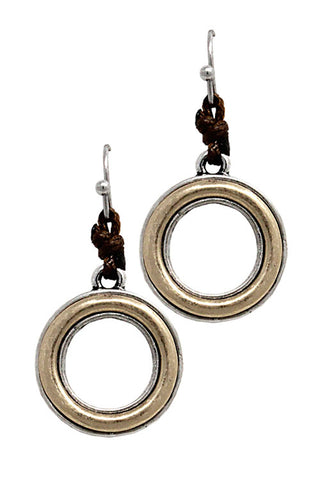Metal Circle Hook Earrings