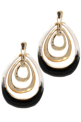 Metal Drop Post Earrings