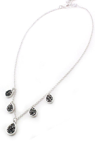 Teardrop Rhinestone Necklace Set