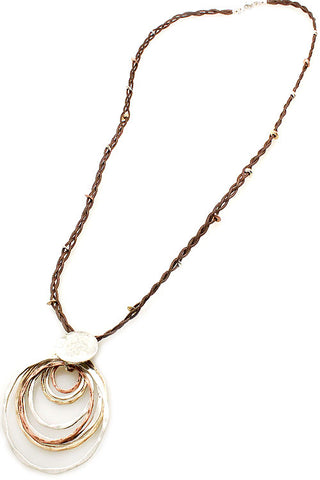 Multi String Pendant Necklace