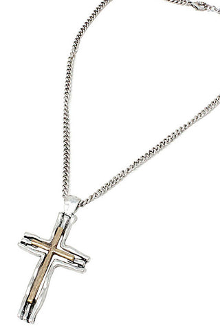 (10PCS) Chain Metal Cross Pendant Necklace