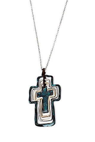 (10PCS) Metal Cross Pendant Necklace