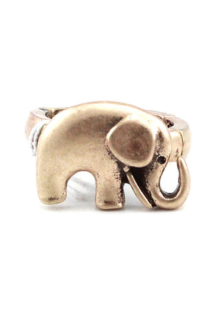 Metal Elephant Pendant Ring