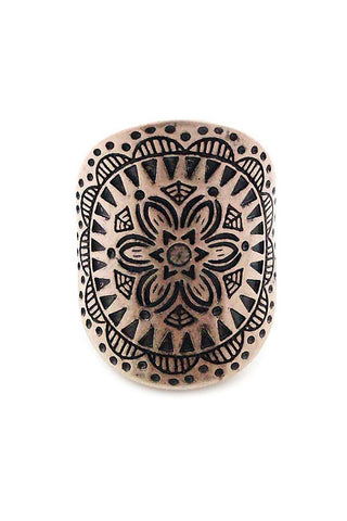 Tribal Metal Stretchable Ring
