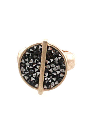 Mix Metal Stretchable Ring