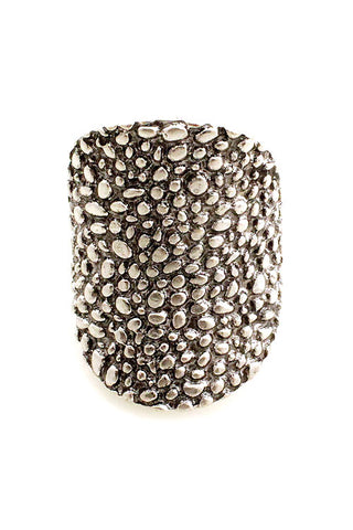 Texture Metal Stretchable Ring