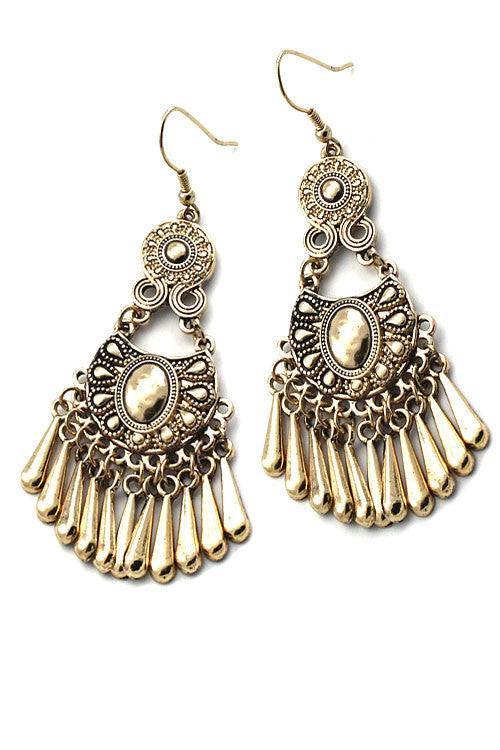 Tassel Drop Hook Earrings