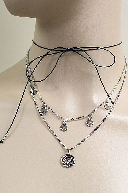 (3pcs) Multi Layered Choker Necklace