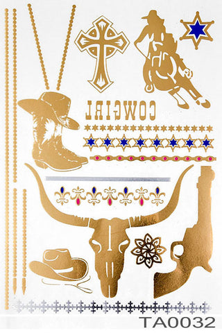 (6pcs) Temporary Tattoo Jewelry