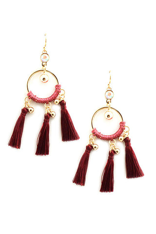 (3PCS) Tassel Hook Earrings
