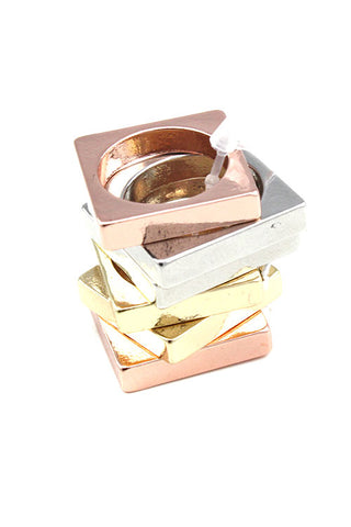 (10PCS) Multi Metal Ring Set
