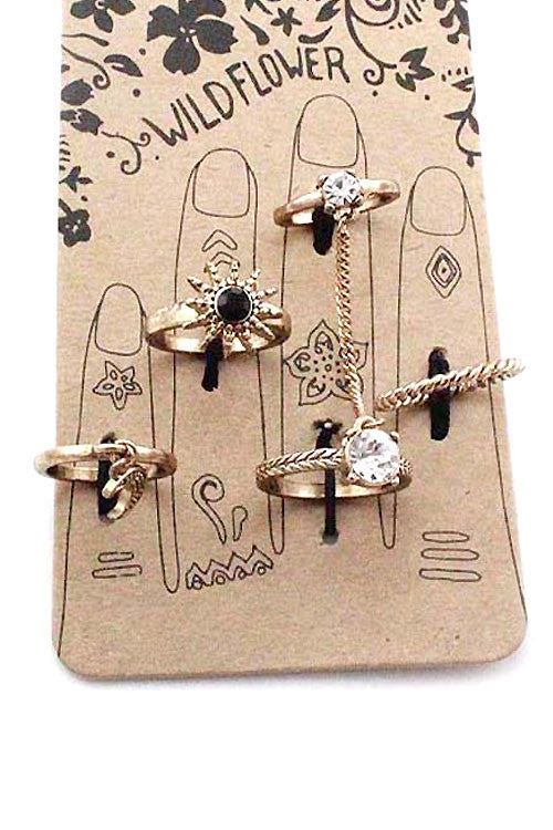(2PCS) Multi Midi Ring