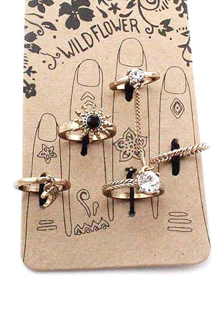 (3PCS) Multi Midi Ring