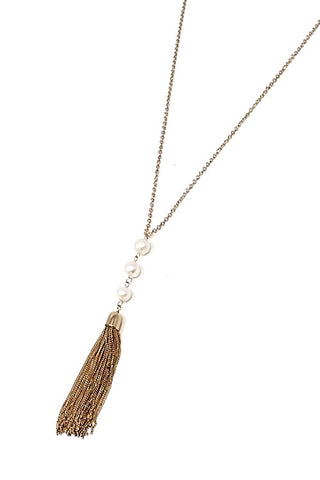 Tassel Pendant Necklace Set