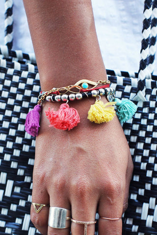 (3PCS) Fashion Multi Color Bracelets