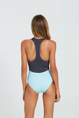 MAYA SURFSUIT GRAY METALLIC / PALE BLUE