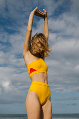 BYRON BIKINI BOTTOM butterscotch / red