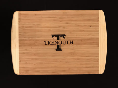 Proudly display your passion for cooking with this monogrammed Bamboo Cutting Board
