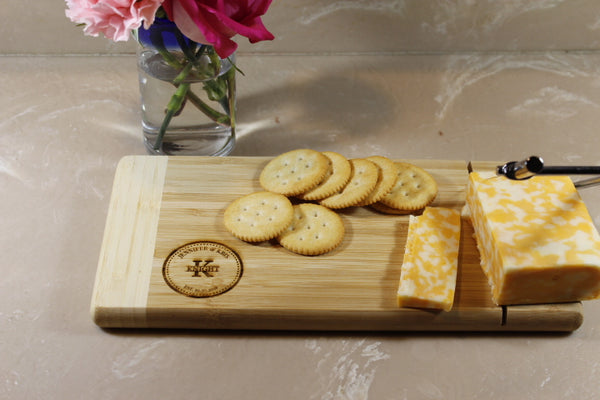 Cheese Board with Metal Cheese Cutter