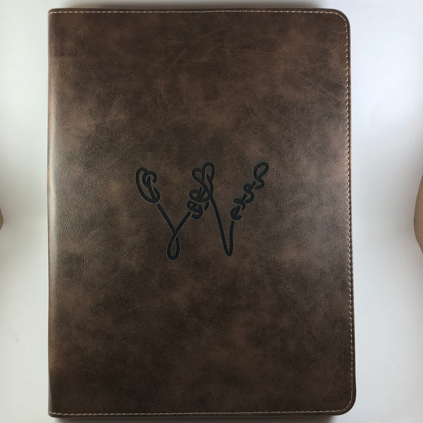 Leatherette Portfolio Zippered