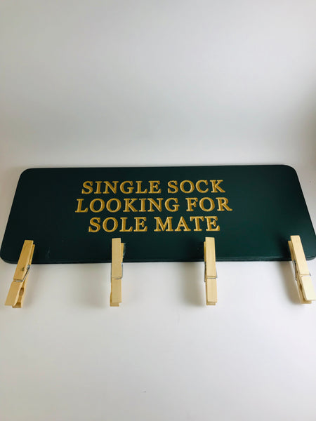 Single sock holder sign
