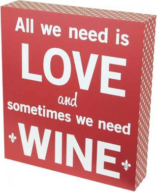 NEXT CHAPTER HOME HORNSBY | LOVE AND WINE SIGN - THE PREFECT GIFT THIS CHRISTMAS