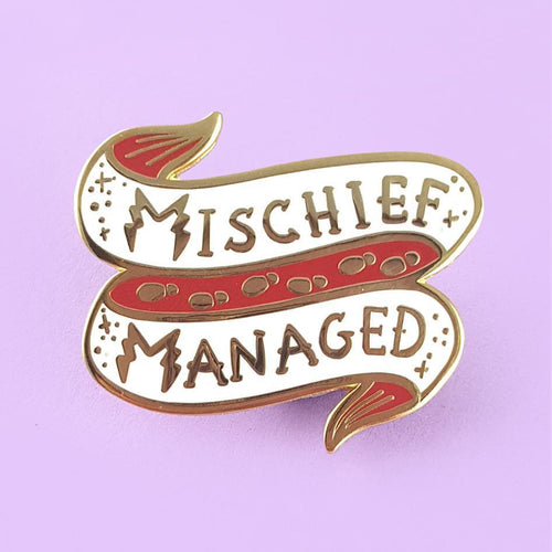 Mischief Managed Lapel Pin by Jubly-Umph