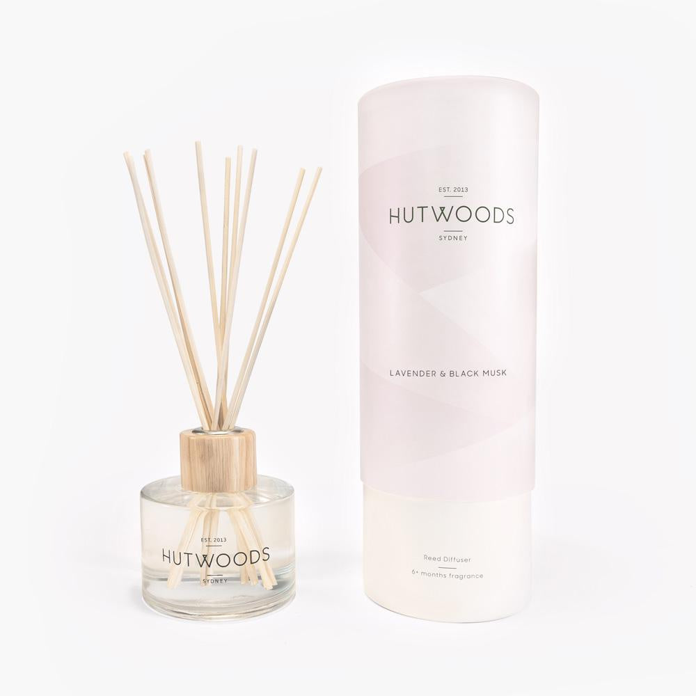 NEXT CHAPTER HOME HORNSBY | *NEW* HUTWOODS REED DIFFUSER - LAVENDER & BLACK MUSK