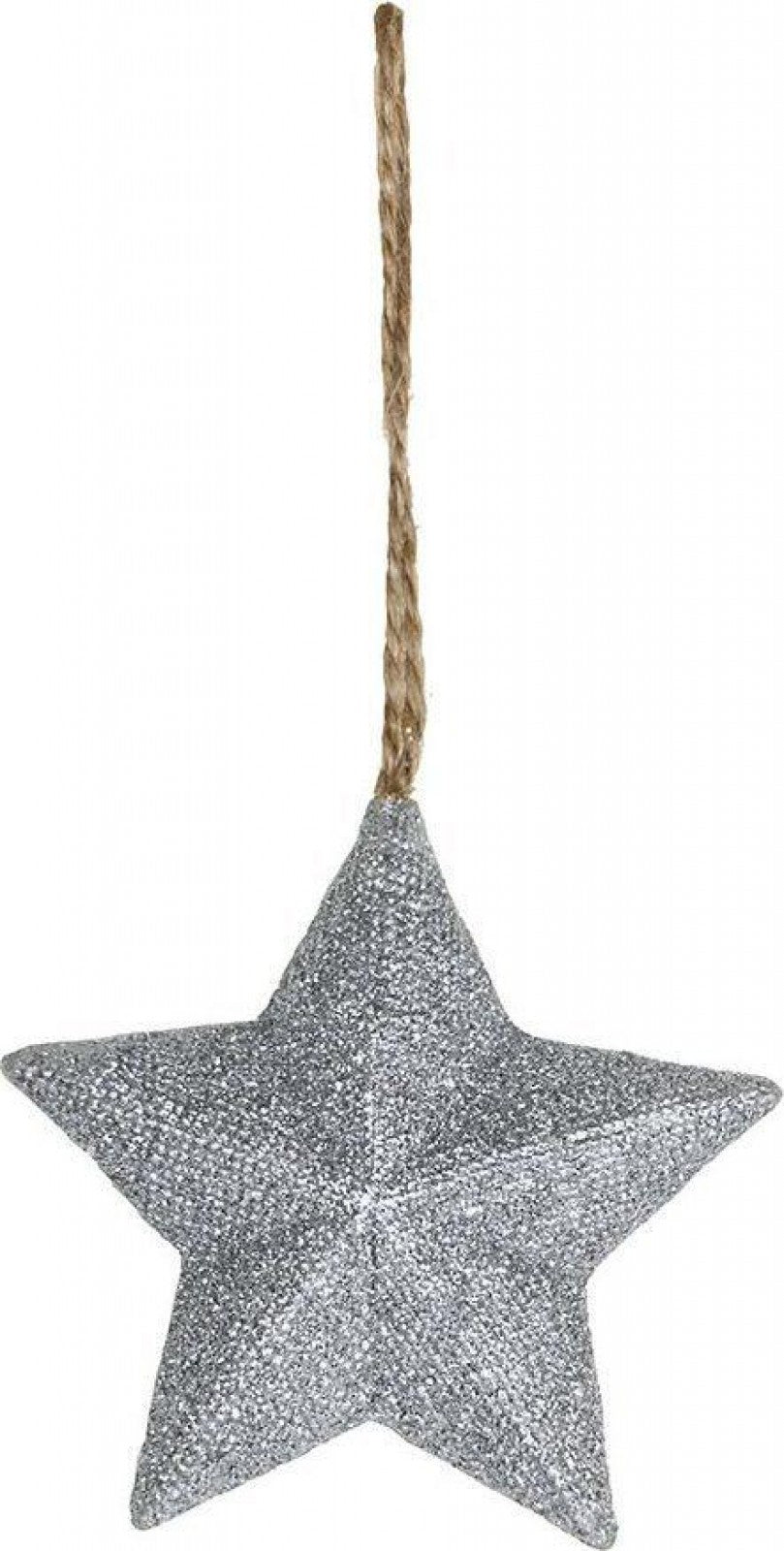 Hanging Star in Silver